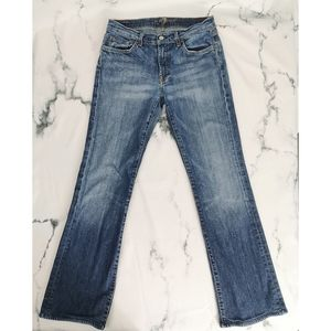 7 For All Mankind Flare Midrise Size 31